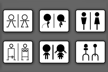 bathroom sign: Toilet symbols for men and women