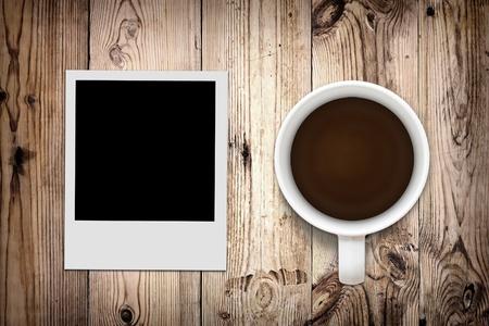 Blank photo and coffee photo