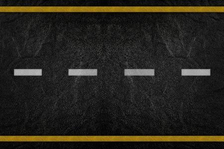 Motif sur la texture de la route avec bande jaune