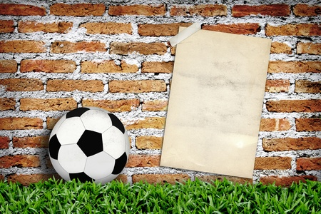 Old poster and football Stock Photo - 10303843