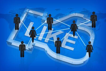 buff: Like in social network