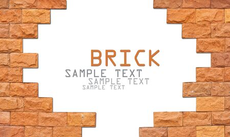 block note: Brick texture background with area for text Stock Photo