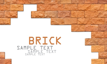 Brick wall frame with area for copyspace Stock Photo