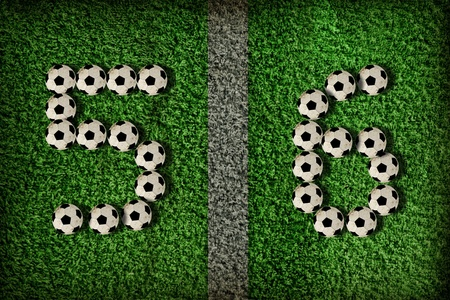 5,6 - number of football, Soccer number photo