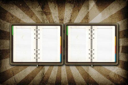 alpha: Open Blank page on grunge vintage background