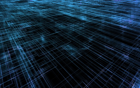 cyber business: Matrix wireframe Stock Photo