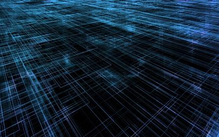 parallel world: Matrix wireframe Stock Photo