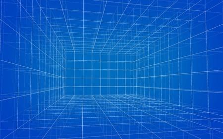 Background of matrix wireframe Stock Photo - 10691506