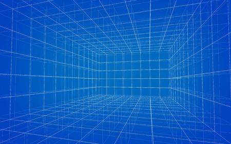 Background of matrix wireframe photo