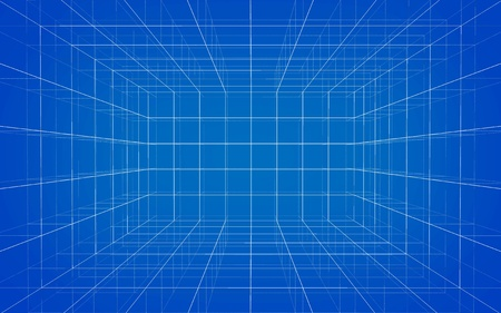 Background of matrix wireframe Stock Photo - 10691427