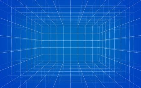 grid: Sfondo di matrice wireframe