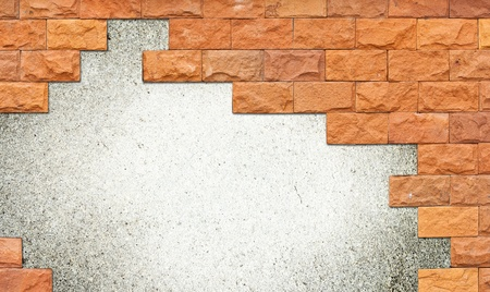 Brick wall frame with area for copyspace Stock Photo - 10691523