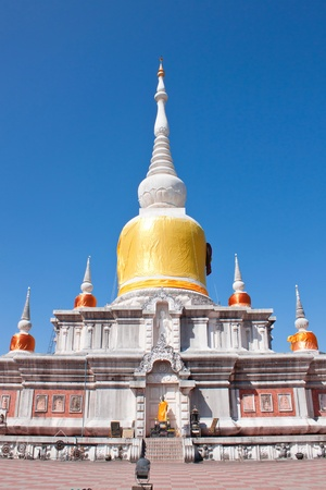 White pagoda in the temple of thailand photo