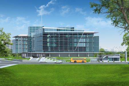 3D render of building Banco de Imagens