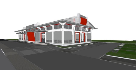 3d rendering of building photo