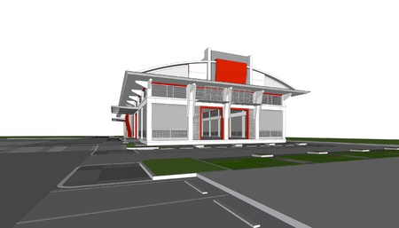 3d rendering of building Фото со стока