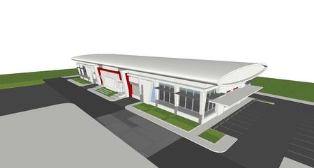 3d rendering of building Banco de Imagens