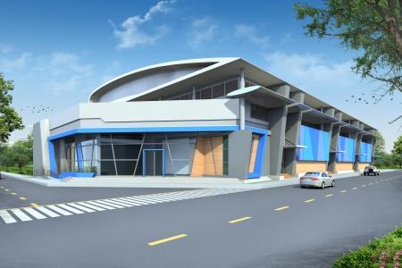 3D render of building Stock Photo