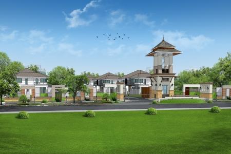 3d rendering of building Stock Photo