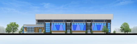 elevation: Elevation of building, 3d rendering Stock Photo