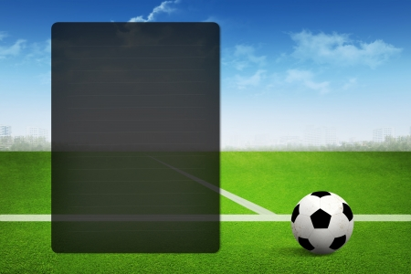 Soccer abstract background for page presentation photo