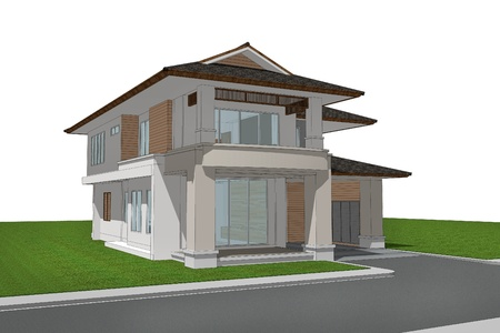 3d render of house photo