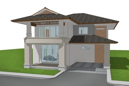3d render of house Stock Photo - 14203831