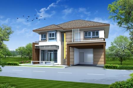3d rendering of house Banco de Imagens
