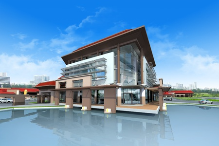 3D render of building photo