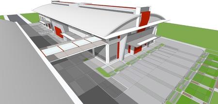 3d rendering of building photo