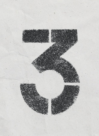 Pencil sketch of numbers on vintage paper texture photo