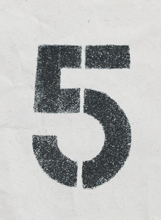 Pencil sketch of numbers on vintage paper texture