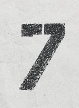 Pencil sketch of numbers on vintage paper texture