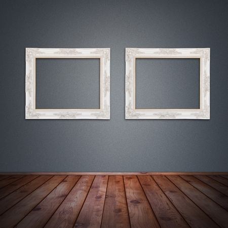 Photo frame on the wall in vintage room background Stock Photo - 18512208