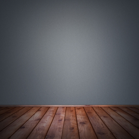 Vintage empty room and wooden floor interior background photo