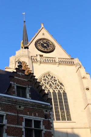 Detail van de Sint Pieterskerk, Leuven, België