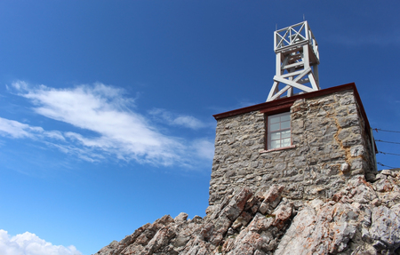 Sulphur Mountain Weather Station. Banff National Park. Alberta Stock Photo