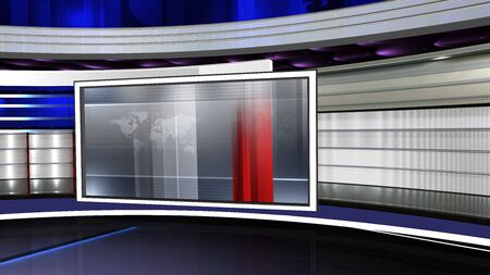 3D rendering background is perfect for any type of news or information presentation. The background features a stylish and clean layout Stock Photo