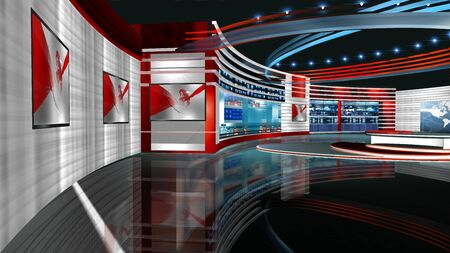 3D rendering background is perfect for any type of news or information presentation. The background features a stylish and clean layout Stock Photo - 134519935