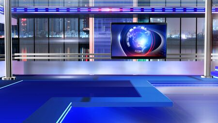 3D rendering background is perfect for any type of news or information presentation. The background features a stylish and clean layout Stock Photo - 134519918