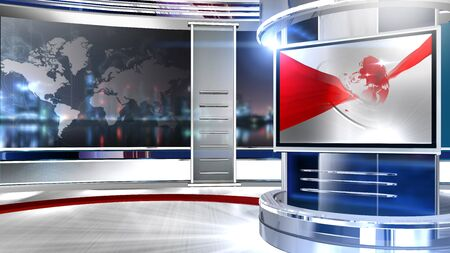 3D rendering background is perfect for any type of news or information presentation. The background features a stylish and clean layout