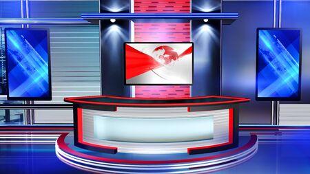 Der 3D-Rendering-Hintergrund ist perfekt für jede Art von Nachrichten- oder Informationspräsentation. Der Hintergrund verfügt über ein stilvolles und sauberes Layout