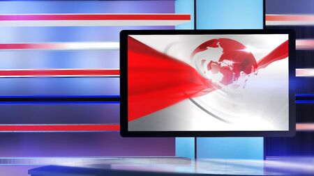3D rendering background is perfect for any type of news or information presentation. The background features a stylish and clean layout Stock Photo - 134409775