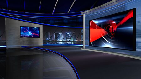 3D rendering background is perfect for any type of news or information presentation. The background features a stylish and clean layout 写真素材