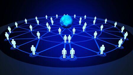 People network Stockfoto