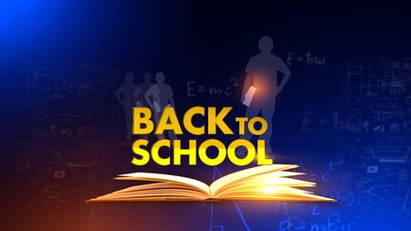 Back to school 3D rendering news background is perfect for any type of news or information presentation