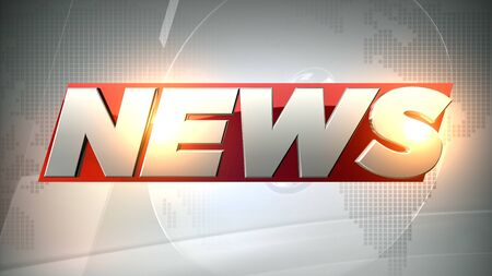 3D rendering news background is perfect for any type of news or information presentation