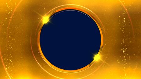 Golden ring 3D rendering news background is perfect for any type of news or information presentation Stok Fotoğraf