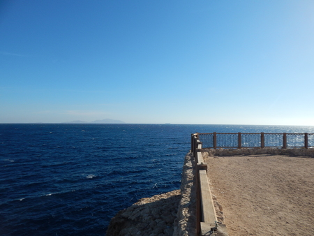 Nature beaches of the resort in Egypt Sharm El Sheikh