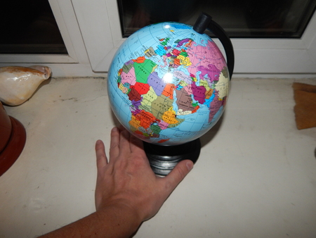 Globe geographical map of the world, politics and the state